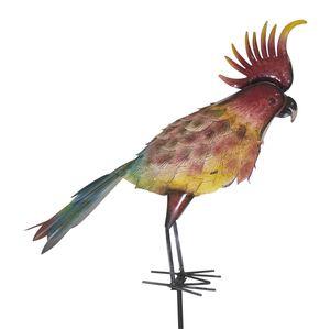 Deko Blumen-Stecker Papagei XXL