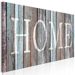 Modernes Wandbild m-C-0422-b-a (150x50 cm) - 1 Teilig Bilder Fotografie auf Leinwand Foto Bild Dekoration Wand Bilder Kunstdruck HOME AUFSCHRIFT