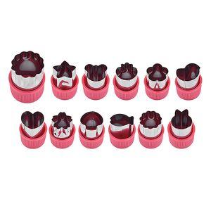 CANDeal 12 Stück Gemüse Ausstechformen, Cookie Kuchen Obst Ausstecher aus Edelstahl, Plätzchen Ausstecher/Kekse Ausstechformen Set für Kuchen, Keks, Sushi, Obst