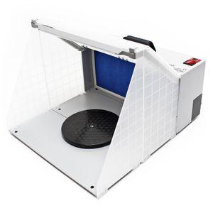 Airbrush Zubehör Absauganlage 4m³ / min Filter Farbnebel beleuchtet Lüftung
