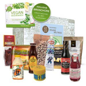 Geschenkset Vegane Köstlichkeiten aus aller Welt Geschenk für Frauen Männer | Vegane Ernährung | Vegan kochen | vegane Lebensmittel Geschenkbox