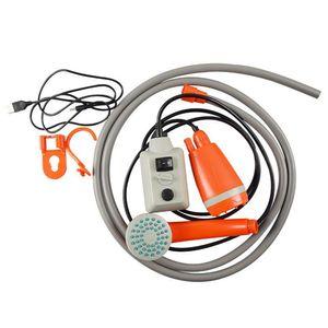 Tragbare Aussendusche Handheld Wiederaufladbare Camping Duschkopf USB-Aufladung
