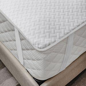 ABAKUHAUS Matratzenschoner weich, atmungsaktives Schutz überwurf, elastisch und rutschfest, 140x200cm für Doppelbetten