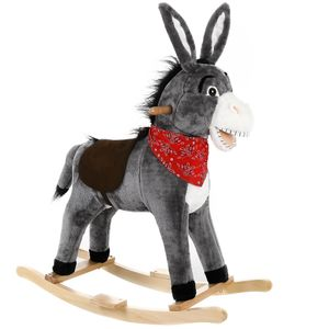 Schaukeltier Schaukelpferd Plüsch Schaukelspielzeug Wippe Kinder Baby Spielzeug, Tierart:Esel
