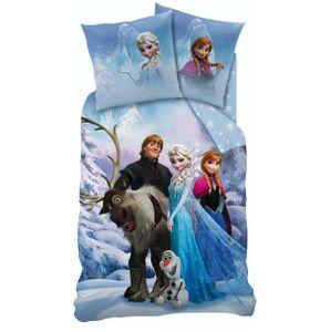 Disney Frozen / Eiskönigin - Wende Bettwäsche 135x200 80x80