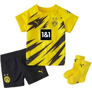 Puma BVB Home Baby-Kit mit Sponsor Fussballtrikot 931111 Gelb , Bekleidung:68