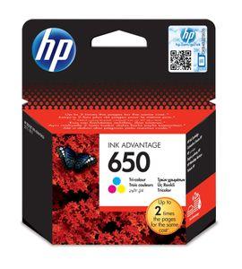 HP 650, Original, Tinte auf Pigmentbasis, Cyan, Magenta, Gelb, HP Deskjet Ink Advantage 2515, 1 Stück(e), Tintenstrahldrucker