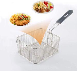 Mini Square Fry Basket Geschenk Frittiertes Essen, Tisch Servieren Mini Chip Körbe Mini Friteuse Servieren Essen Präsentationskorb Küche