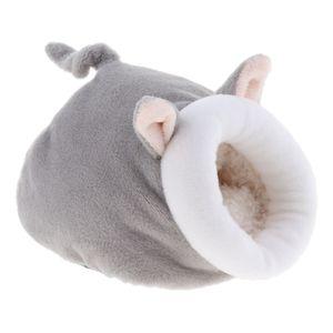 Winter warme Kaninchen Meerschweinchen Hamster Haus Bett niedlichen kleinen Tieren grau 10x11x12cm Hamsternest Modern
