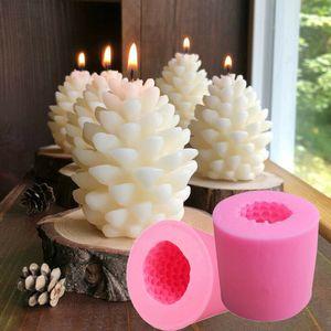 3D Weihnachten Tannenzapfen Silikon Kerze Form Kerze DIY Herstellung Form