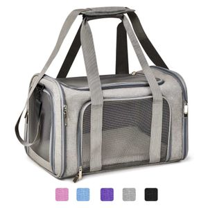 Auto Hundetasche Transportbox Hundebox Tragetasche Autositz Katzenträger Portable Grau