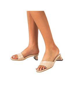 Damenmode High Heels Allgleiches Open Toe Sandalen Party Kleid Schuhe Allgleiches Hausschuhe,Farbe: Beige,Größe:39