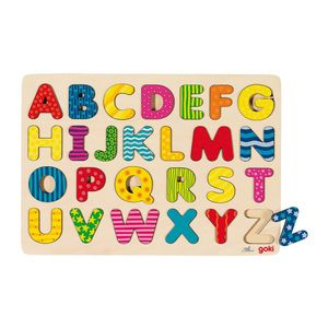 goki 57672 Alphabetpuzzle, bunt (1 Stück)