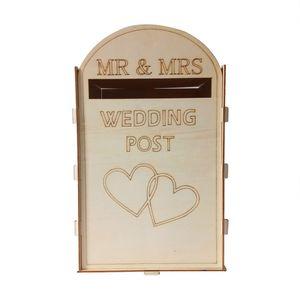 Hochzeit Holz Box Hochzeitskarte Box mit Schloss 2019 Royal Mail Style Retro personalisiert