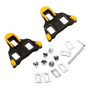 Rennrad-Pedalstollen-Set für Shimano SM-SH11 SPD-SL Fahrradausrüstung mit Befestigungsschrauben und Unterlegscheiben -Yellow
