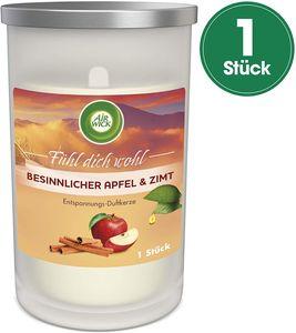 Air Wick Entspannungs-Duftkerze Besinnlicher Apfel und Zimt Winter Kerze Glas