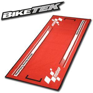 BikeTek Motorradteppich MotoGP Starting Grid rot weiß
