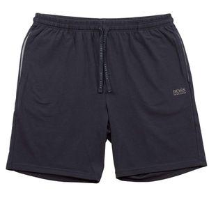 BOSS Herren Mix & Match Short Pants Logostickerei Grau Blau Schwarz Blau M
