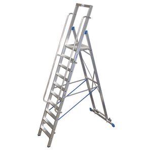 Krause STABILO Stufen-StehLeiter mit großer Standplattform 10 Stufen