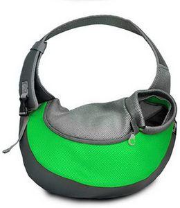 Transporttasche für Hunde Katze -Haustier-Hunde Tasche Umhängetasche für Transporter Kleintier Leinentaschen Grün-L