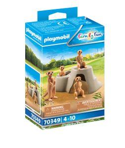 PLAYMOBIL Family Fun 70349 Erdmännchenkolonie