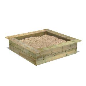 FATMOOSE PowerPit Sandkasten mit Sitzrand 120 x 120 cm