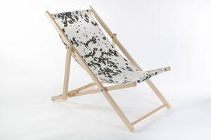 Liegestuhl aus Buchenholz klappbar, Strandstuhl, Sonnenliege, Gartenstuhl, Strandliege, stylisch, bequem, premium, Farbe:weiß