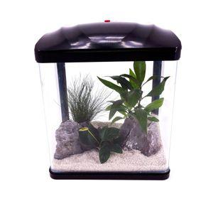HR-230 schwarz Nano Aquarium Komplettaquarium Mini Aquarium+Filteranlage
