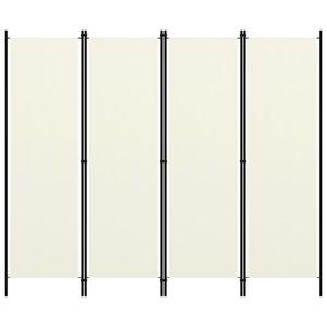 vidaXL 4-tlg. Raumteiler Cremeweiß 200x180 cm