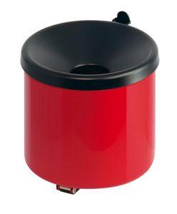 Feuerlöschender Wand-Aschenbecher - Rot, Schwarz