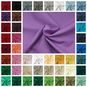 50x150cm Baumwollstoff  100 Meterware am Stück Fahnentuch Cretonne 45 Farben, Farbe:schwarz