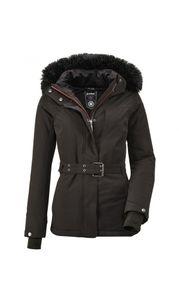 Killtec - Damen Funktionsjacke mit abzippbarer Kapuze und Schneefang, Wasilla WMN Ski JCKT I (36110), Größe:40, Farbe:Schwarz (00200)