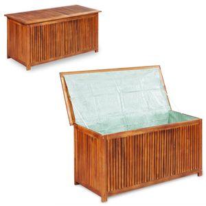 Eleganter-Gartenbox Kissenbox Aufbewahrungsbox,Auflagenbox Groß für Garden 117×50×58 cm Massivholz Akazie🌙5221