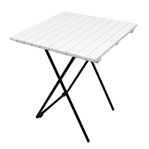 Holz/Metall Campingtisch Beistelltisch Klapptisch klappbar weiß 45x45x50 cm