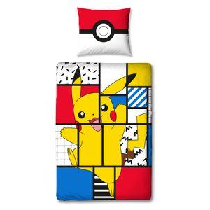 Pokémon Bettwäsche 80x80 + 135x200 cm - 100% Baumwolle