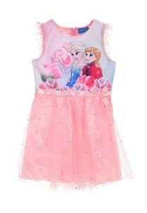 Disney Frozen - Die Eiskönigin Anna & Elsa Kleid Rosa, Größe:128