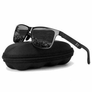 Aluminium polarisierte Sonnenbrille Fahren Angeln gespiegelte Schutzbrille Brille