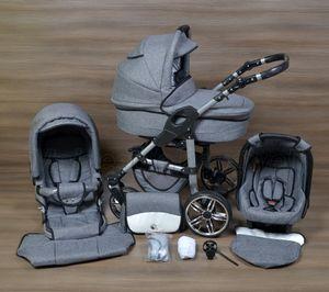 LUXUS Kombi Kinderwagen   BABY SMILE  3in1 Babyschale Autositz Babywanne Sportsitz 6