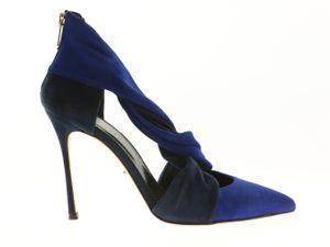 Sergio Rossi Damen Schuhe Pumps Blau Leder , Größe:35.5
