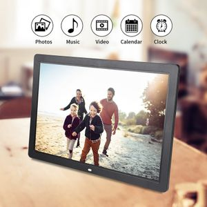 17Zoll 1440 * 900 HD Digital Fotorahmen Bilderrahmen Wecker Player Album ABS inkl.  Fernbedienung