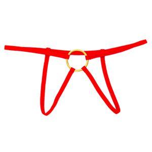 Herren T-back Solide Größe Einheitsgröße Farbe rot Stil Tanga, Bikinis
