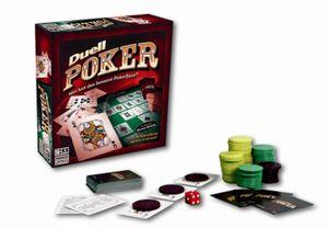 Parker Duell Poker Spiel Pokerspiel Spielbrett + Karten Set für 2 Spieler ab 18