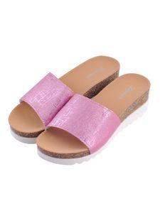 Damen-Wedges Ein-Wort-Hausschuhe High Heels Strandsandalen Und Hausschuhe,Farbe: Rosa,Größe:41