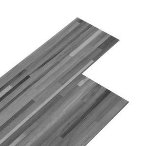 vidaXL PVC-Laminat-Dielen 4,46 m² 3 mm Selbstklebend Gestreift Grau