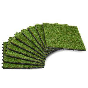 dereoir Kunstrasen-Fliesen 10 Stk. 30 x 30 cm Grün