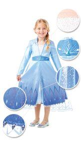 Kinder Kostüm Elsa Frozen 2 Die Eiskönigin deluxe, Größe:L (7-9 Jahre)