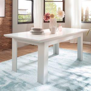 Esstisch in weiß Landhaus Küchentisch ausziehbar 160 / 200 x 90 cm bis 8 Personen - Trendteam Baxter