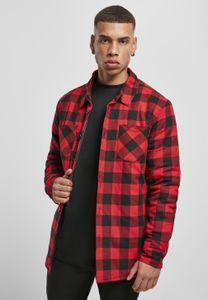 Urban Classics Hemd Padded Check Flannel Shirt Black/Red-XL
