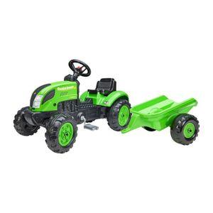 Tret-Traktor mit Hänger grün 2-5 J.