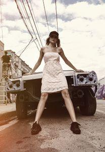 Urban Classics Damen Kleid Ladies Laces Dress TB922, color:pink, size:M